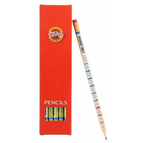 Купить KOH-I-NOOR Набор чернографитных карандашей Таблица умножения 1231 12 шт (V1231002477KSNV), Карандаши