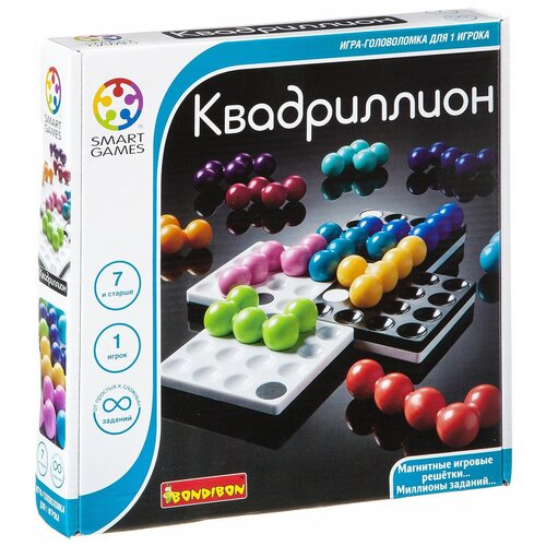 Фото - Головоломка BONDIBON Smart Games Квадриллион (ВВ1057) головоломка bondibon smart games smart тачка мини формат вв3700 голубой красный желтый зеленый