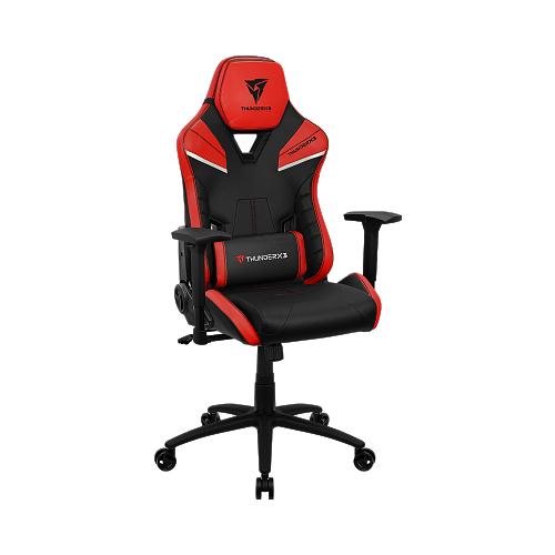Компьютерное кресло ThunderX3 TC5 игровое, обивка: искусственная кожа, цвет: Ember Red компьютерное кресло thunderx3 tc3 ember red