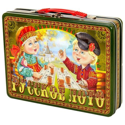 Фото - Настольная игра Десятое королевство Русское лото в жестяном чемоданчике «Посиделки» настольные игры десятое королевство настольная игра русское лото