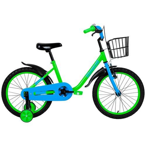 Детский велосипед FORWARD Barrio 18 (2019) зеленый (требует финальной сборки) детский велосипед forward nitro 18 2020 оранжевый белый требует финальной сборки