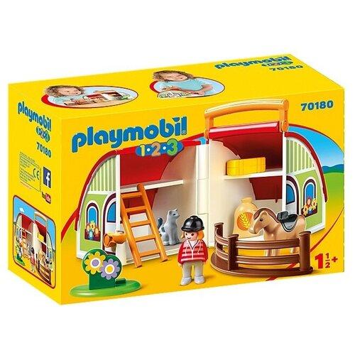 Купить Конструктор Playmobil 1-2-3 70180 Моя ферма, Конструкторы