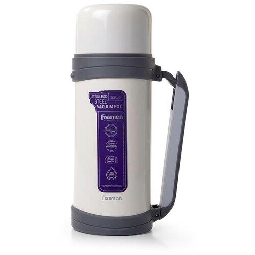 Классический термос Fissman 9807, 1.5 л белый
