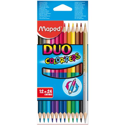 Фото - Maped Цветные карандаши двусторонние Color Peps Duo 24 цвета 12 штук (829600) карандаши набор 18цв аквар maped color peps aqua кисть