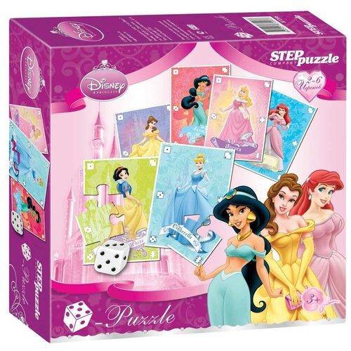 Настольная игра Step puzzle Кубик-пазл Принцессы