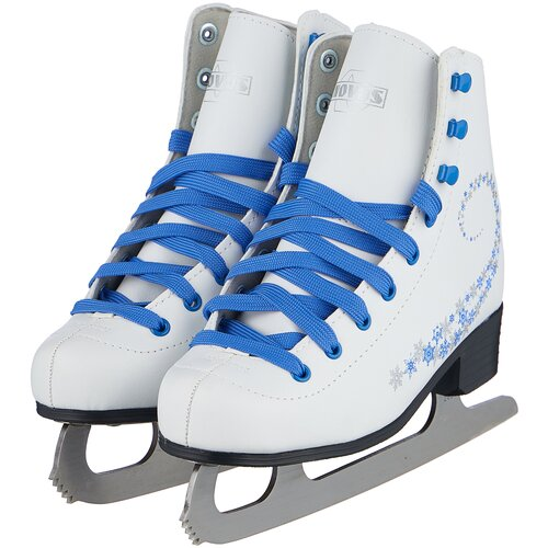 Фигурные коньки Novus AFSK-20 белый/синий/сине-серые звезды р. 33 по цене 2 001