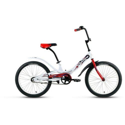 Подростковый городской велосипед FORWARD Scorpions 20 1.0 (2020) белый 10.5 (требует финальной сборки) детский велосипед forward nitro 18 2020 оранжевый белый требует финальной сборки
