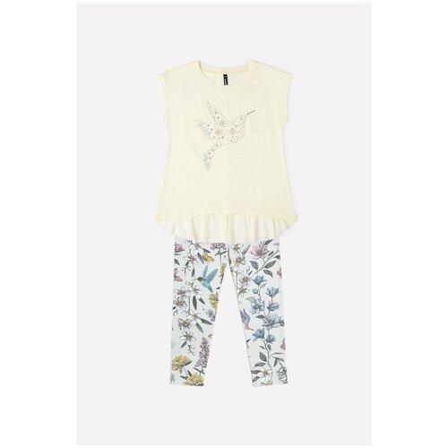 Комплект одежды crockid размер 98, бледно-лимонный футболка crockid размер 98 мятная конфета