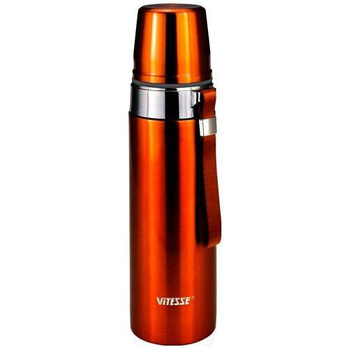 Классический термос Vitesse VS-2634, 1 л оранжевый