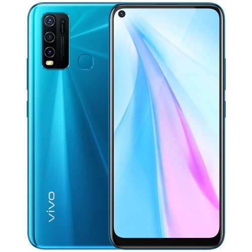 Смартфон vivo Y30, сияющий синий смартфон vivo y30 64gb dazzle blue
