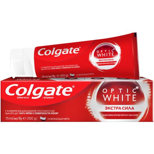 Зубная паста Colgate Optic White Экстра сила отбеливающая, 75 мл