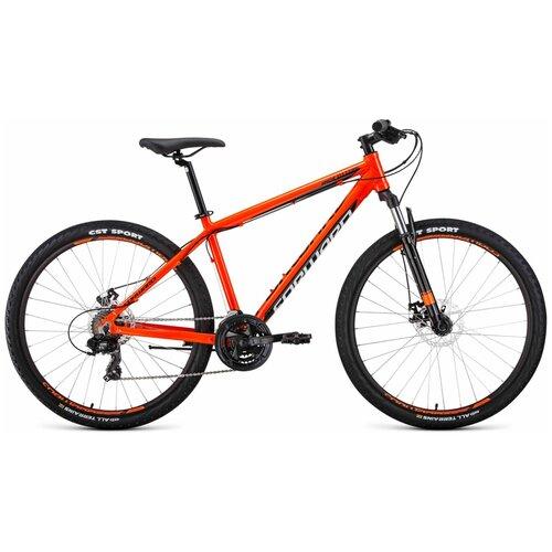 Горный (MTB) велосипед FORWARD Apache 27.5 2.0 Disc (2020) оранжевый/черный 21 (требует финальной сборки) детский велосипед forward nitro 18 2020 оранжевый белый требует финальной сборки
