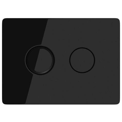 Кнопка Cersanit Accento Circle P-BU-ACN-CIR-PN/Bl/Gl пневматическая, черный глянцевый