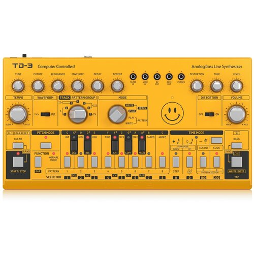 Синтезатор BEHRINGER TD-3-SR yellow