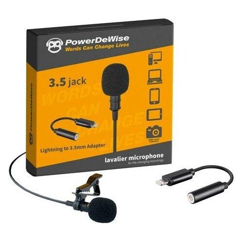 Микрофон PowerDeWise PDW-LA, черный