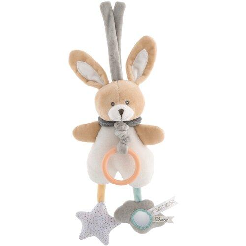 Купить Подвесная игрушка Chicco Зайчик Bunny бежевый/белый, Подвески