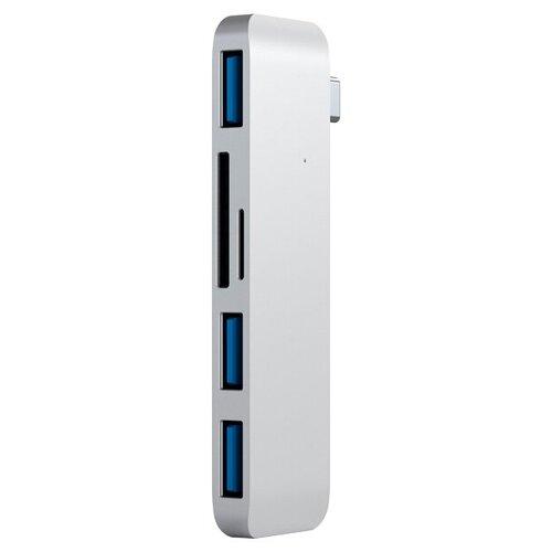 Фото - USB-концентратор Satechi Type-C USB 3.0 3-in-1 Combo Hub, разъемов: 3, silver usb концентратор red line multiport adapter type c 5 in 1 разъемов 5 серебристый