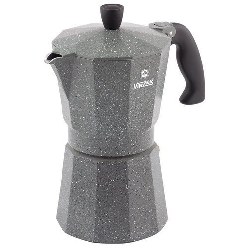 Кофеварка гейзерная VINZER Moka Granito на 9 чашек 89399