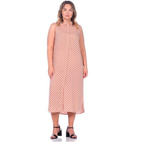 Фото - Платье - туника из вискозы Sunrise (PM France 221) размер 3XL (54), горох (пудра) платье туника panicale платье туника