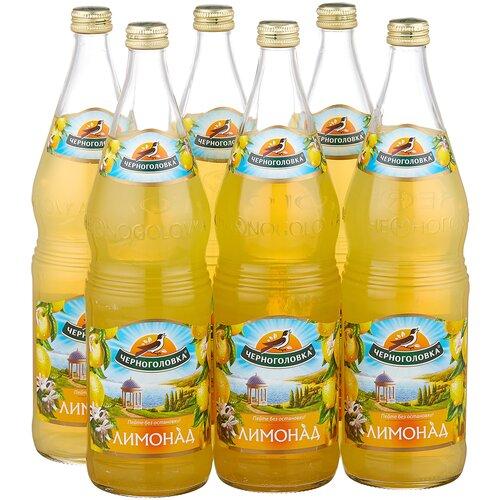 лимонад напитки из черноголовки имбирный 0 5 л Газированный напиток Черноголовка Лимонад, 1 л, 6 шт.