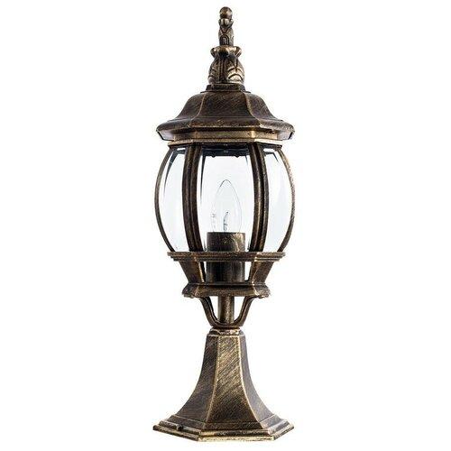 Фото - Arte Lamp Уличный светильник Atlanta A1044FN-1BN, E27, 75 Вт, цвет арматуры: бронзовый, цвет плафона бесцветный уличный светильник arte lamp atlanta a1041al 1bn