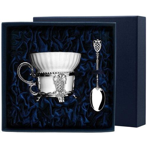 Фото - АргентА Набор чашка чайная Меценат+ ложка (2 предмета) аргента набор чашка чайная виноград ложка 2 предмета
