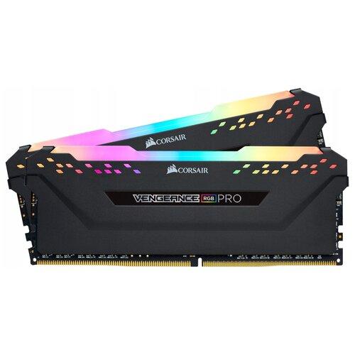 Оперативная память Corsair Vengeance RGB PRO 16GB (8GBx2) DDR4 3200MHz DIMM 288-pin CL16 CMH16GX4M2E3200C16 память оперативная ddr4 corsair 16gb 3200mhz cm4x16gc3200c16w2e