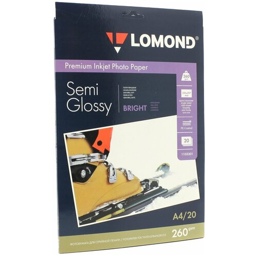 Фото - Бумага Lomond A4 Premium Photo Paper 1103301 260 г/м² 20 лист., белый бумага lomond a4 premium photo paper 1104101 280 г м² 20 лист белый