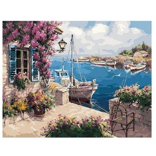 Купить Картина по номерам Летний причал, 40x50 см. PaintBoy, Картины по номерам и контурам