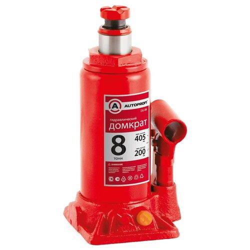 Фото - Домкрат бутылочный гидравлический AUTOPROFI DG-08 (8 т) красный аксессуары для автомобиля autoprofi домкрат бутылочный гидравлический 2 тонны dg 02k