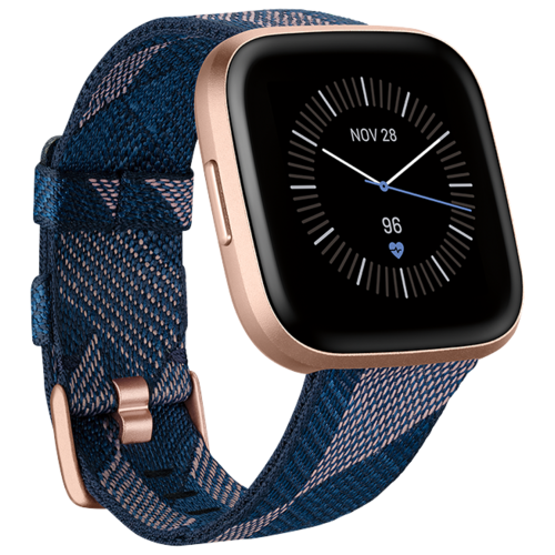 Умные часы Fitbit Versa 2 Special Edition, navy & pink woven/copper rose