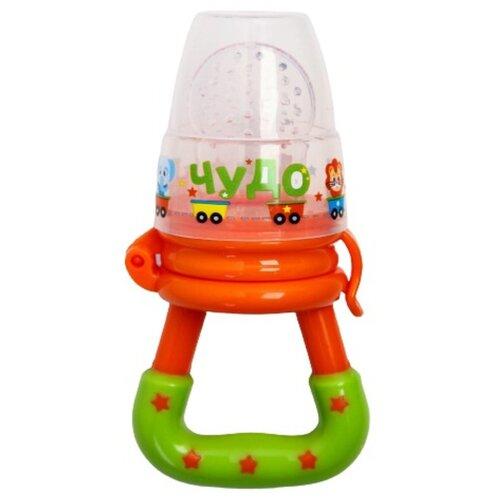 Купить Ниблер для прикорма, с силиконовой сеточкой Чудо цвет, цвет оранжевый 2279602, Mum&Baby, Бутылочки и ниблеры