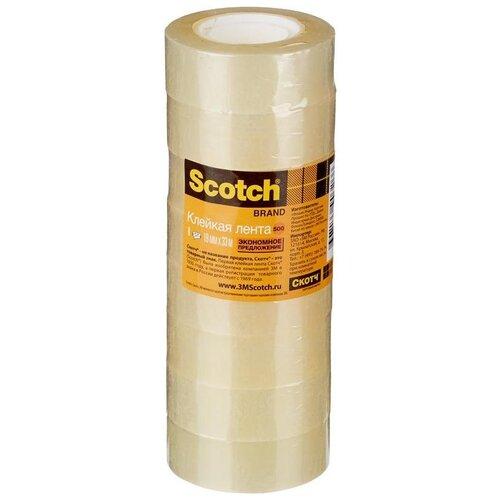 Купить 3M Клейкая лента 19 мм х 33 м (8 шт), Скотч