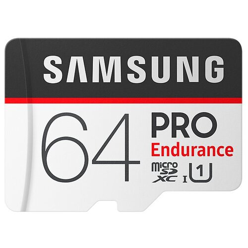 Фото - Карта памяти Samsung microSDXC PRO Endurance UHS-I U1 100MB/s 64GB + SD adapter карта памяти samsung 64gb evo plus v2 microsdxc class 10 u1 sd adapter mb mc64ha