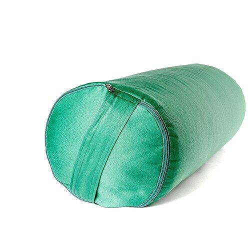 Болстер для йоги из гречихи RamaYoga 50 см (зеленый)