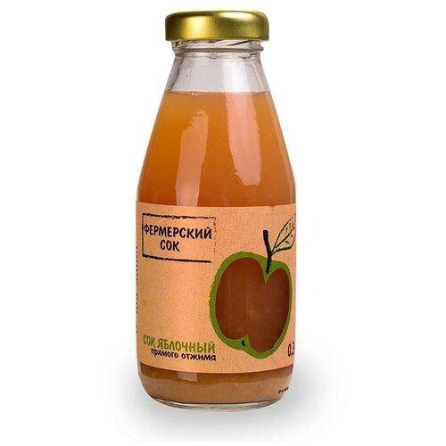Сок Фермерский сок Фермерский Яблочный, прямого отжима, 0.3 л