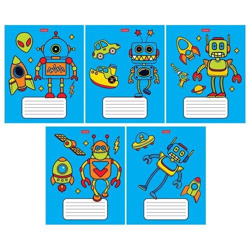 Hatber Упаковка тетрадей Я-робот 12Т5В1, 10 шт., клетка, 12 л., синий набор тетрадей hatber классика 12т5в1