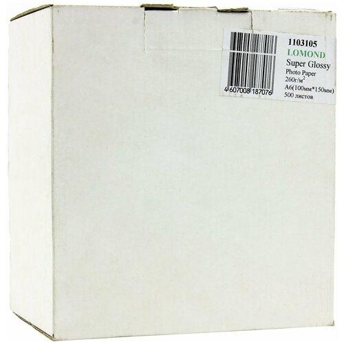 Фото - Бумага Lomond A6 Premium Photo Paper 1103105 260 г/м² 500 лист., ярко-белый бумага lomond a6 0102082 230 г м2 500 лист