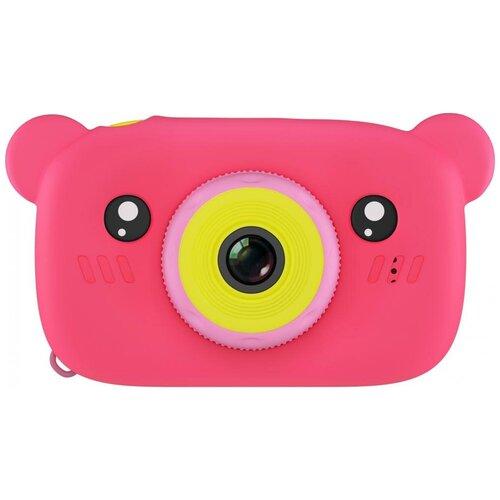 Фото - Фотоаппарат GSMIN Fun Camera Bear со встроенной памятью и играми розовый тапочки с памятью размер 40 41 комфорт