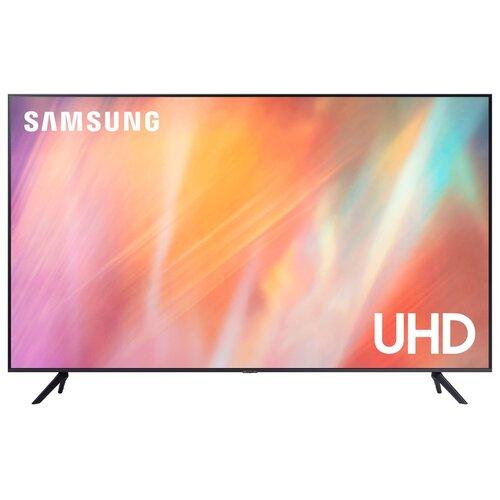 Фото - Телевизор Samsung UE43AU7140U 42.5 (2021), серый титан телевизор samsung lcd 50 4k ue50tu7500uxru