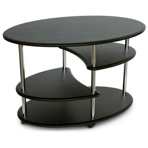 Столик журнальный Калифорния мебель Эллипс СЖ-01, ДхШ: 90 х 60 см, венге недорого