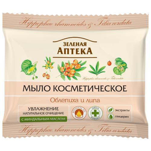 Мыло кусковое Зелёная Аптека Косметическое Облепиха и липа, 75 г