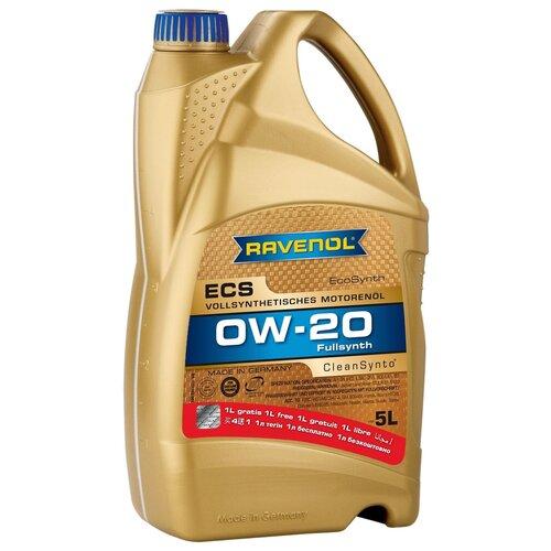 Синтетическое моторное масло Ravenol Eco Synth ECS SAE 0W-20 (4+1 л), 5 л моторное масло ravenol super synthetic hydrocrack ssh sae 0w 30 4 л