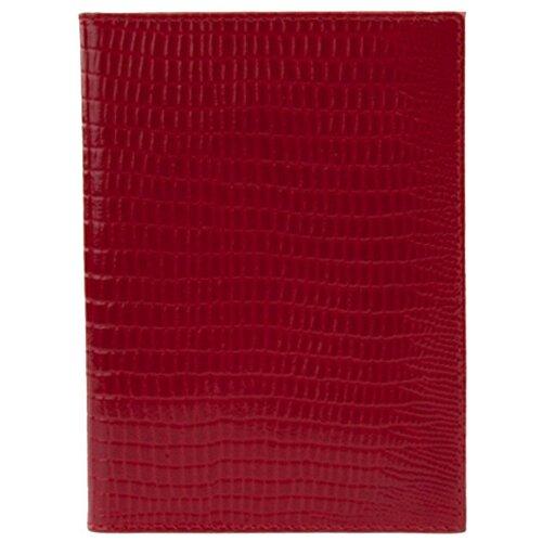 Обложка для паспорта Befler Reptile, красный