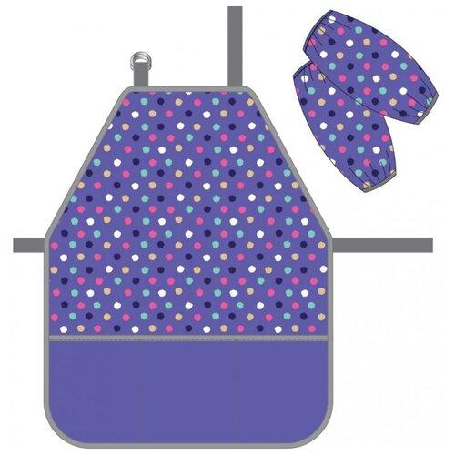 ErichKrause Фартук с нарукавниками Dots фиолетовый