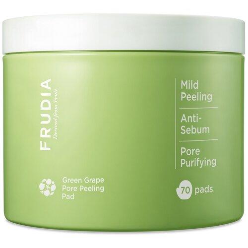 frudia сыворотка green grape pore control serum себорегулирующая с зеленым виноградом 50г Frudia пилинг-диски Green grape Pore Peeling Pad отшелушивающие с зеленым виноградом 70 шт.