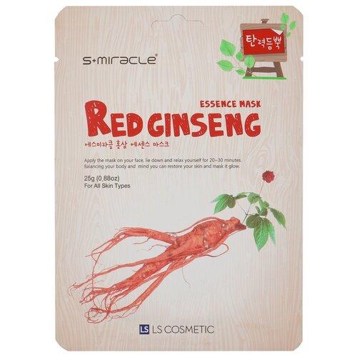 LS Cosmetic тканевая маска s+miracle красный женьшень, 25 г