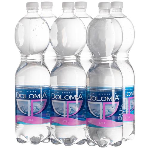 Вода минеральная Dolomia Classic негазированная, ПЭТ, 6 шт. по 1.5 л