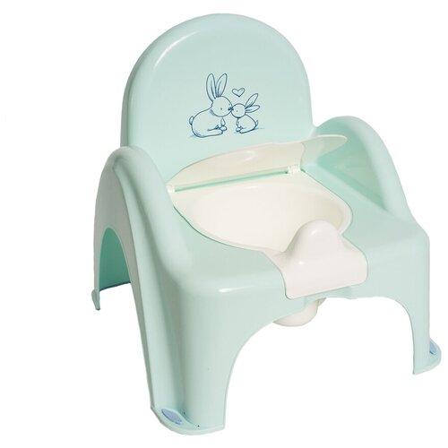 Купить Горшок Tega-стульчик КРОЛИКИ антискользящий, зеленый, Tega Baby, Горшки и сиденья