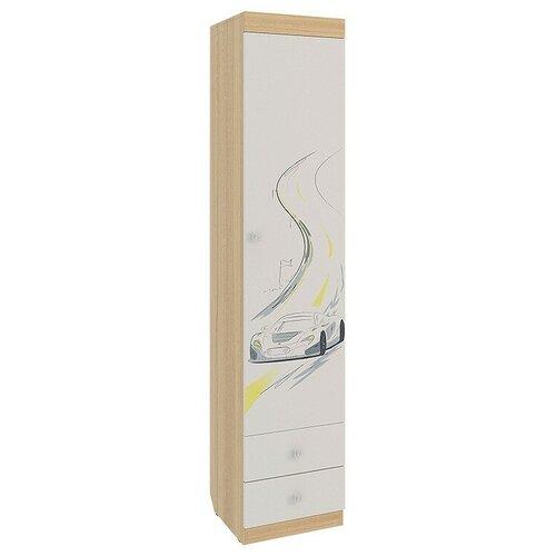 Шкаф-пенал для детской MEBELSON Форсаж MKF-02, (ШхГхВ): 40х42х189.5 см, дуб сонома/белый шкаф пенал для прихожей мастер ольга ояп шхгхв 45х35х200 см дуб сонома
